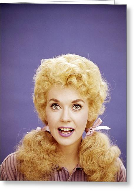 Donna Greeting Cards - Donna Douglas Greeting Card by Silver Screen