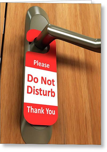 Door Handle Greeting Card by Ktsdesign