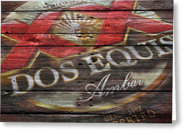 Signed Photographs Greeting Cards - Dos Equis Greeting Card by Joe Hamilton