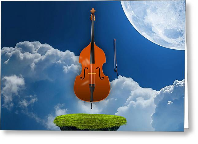 Double Bass Greeting Cards - Double Bass Greeting Card by Marvin Blaine