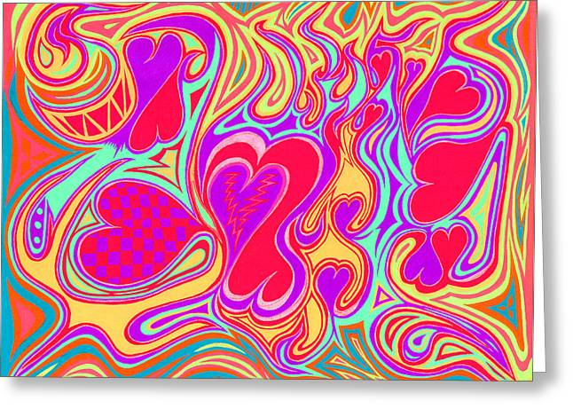 Double Broken Heart Greeting Card by Kenneth James