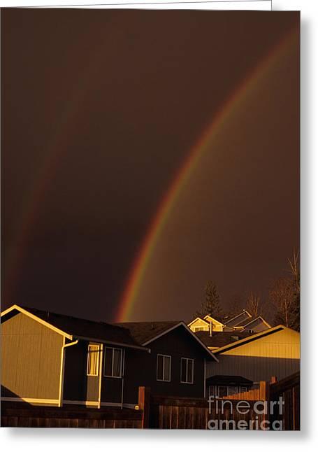 Double Rainbow Greeting Card by Jim Corwin