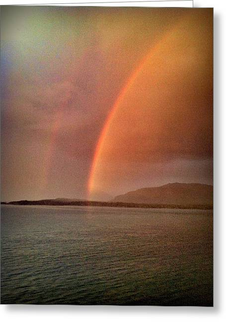 Double Rainbow Greeting Cards - Double Rainbow Greeting Card by John Potts