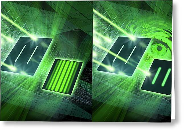 Double-slit Experiment Greeting Card by Harald Ritsch