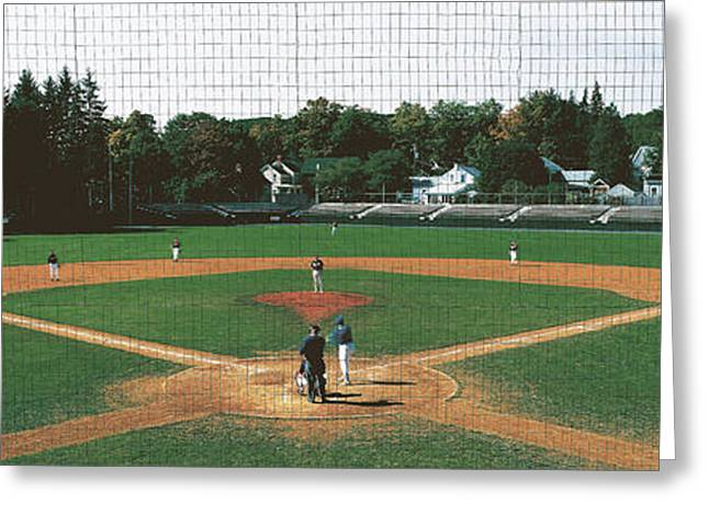 Minor League Greeting Cards - Doubleday Field Cooperstown Ny Greeting Card by Panoramic Images