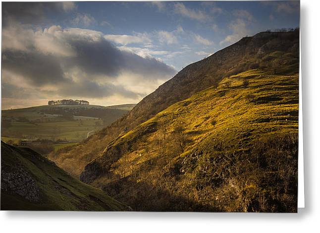 Peak District National Park Greeting Cards - Dovedale valley Greeting Card by Chris Fletcher