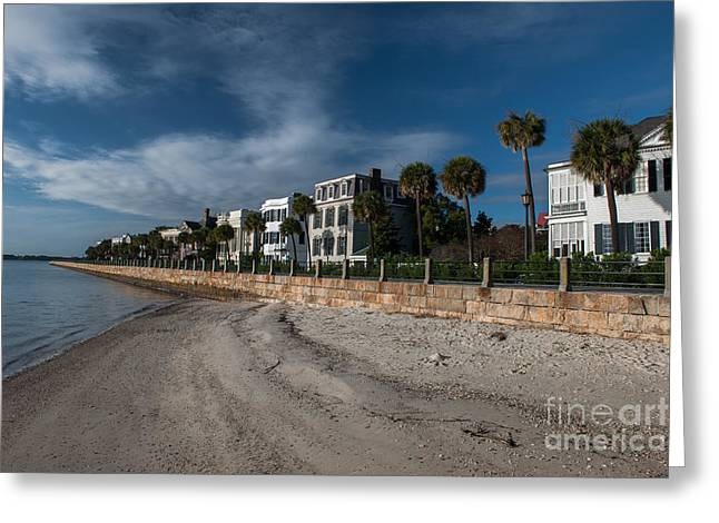 Side Porch Greeting Cards - Downtown Beach  Greeting Card by Dale Powell