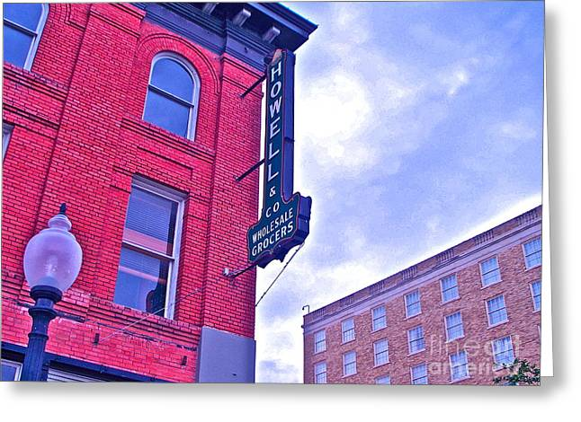 Howell Greeting Cards - Downtown Bryan Greeting Card by Chuck Taylor