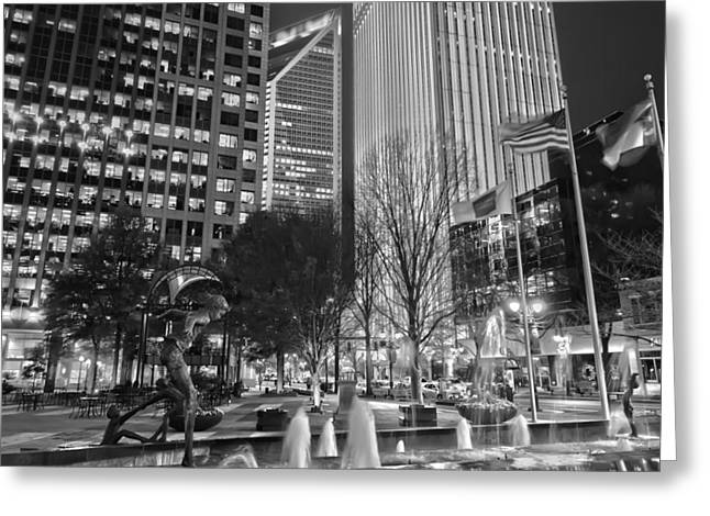 Charlotte Greeting Cards - Downtown Charlotte  Greeting Card by Mountain Dreams