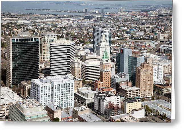 Downtown San Francisco Greeting Cards - Downtown Oakland California Greeting Card by Bill Cobb