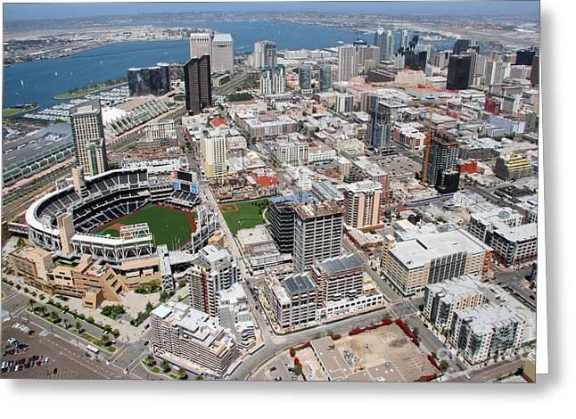 Downtown San Diego Greeting Card by Bill Cobb