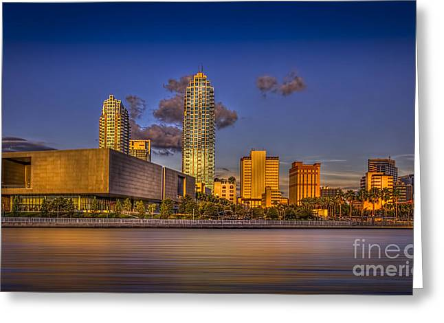 Glass Building Greeting Cards - Downtown Tampa Greeting Card by Marvin Spates