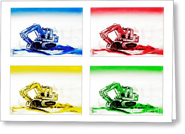 Dozer Greeting Cards - Dozer Mania Greeting Card by Kip DeVore