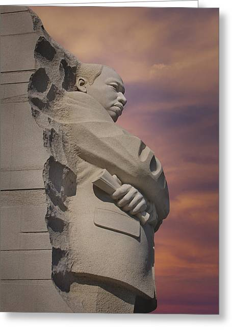 Civil Rights Greeting Cards - Dr. Martin Luther King Jr Memorial Greeting Card by Susan Candelario