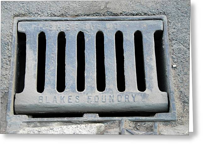 Drain Cover Greeting Card by Public Health England