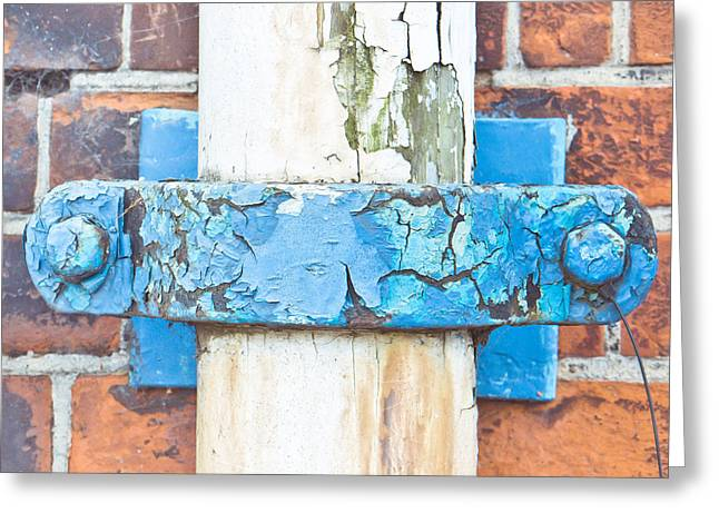 Clamps Greeting Cards - Drain pipe Greeting Card by Tom Gowanlock