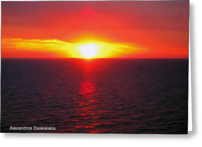 Amazing Sunset Greeting Cards - Dramatic Sunset Greeting Card by Alexandros Daskalakis