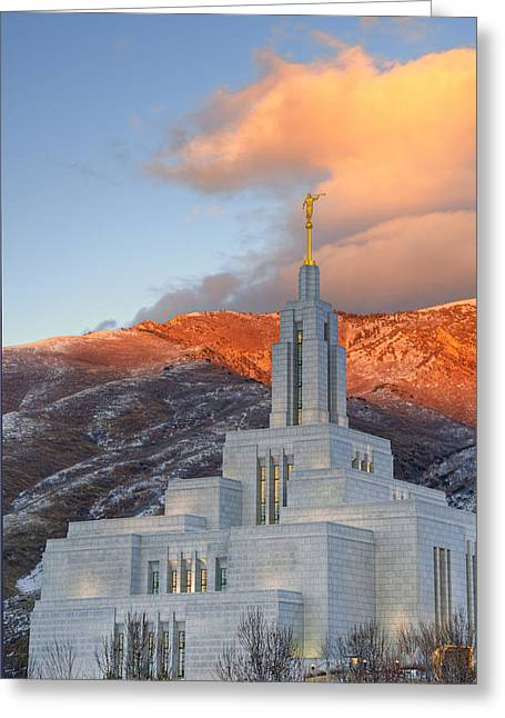 Utah Temples Greeting Cards - Draper Temple Greeting Card by Dustin  LeFevre