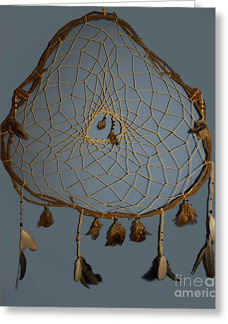 Organic Tapestries - Textiles Greeting Cards - Dream Catcher Greeting Card by Michelle White