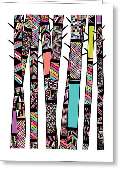 Native American Illustration Greeting Cards - Dream Forest Greeting Card by Susan Claire