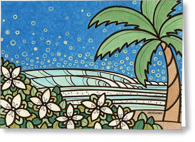Surfer Mixed Media Greeting Cards - Dream the Day Away Greeting Card by Joe Vickers