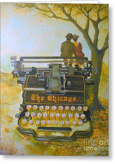 Chicago Typewriter Greeting Cards - Dreamers. Greeting Card by Andrey Vutyanov