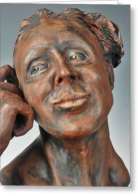 Female Sculptures Greeting Cards - Dreamweaver Greeting Card by Eduardo Gomez