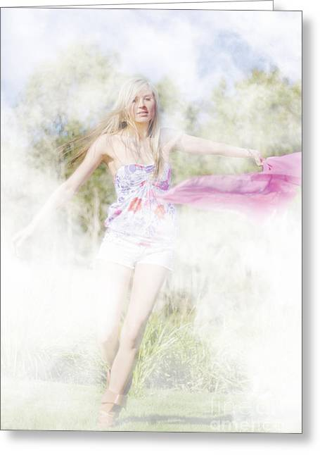 Dreamy Enchanted Forest Dancer Greeting Card by Jorgo Photography - Wall Art Gallery