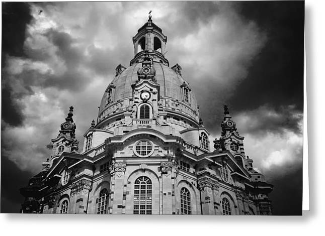 Dresden Greeting Cards - Dresden Cathedral Greeting Card by Mountain Dreams