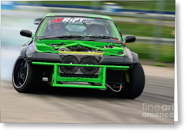 Recently Sold -  - Deutschland Greeting Cards - Drifting Car Greeting Card by Martin Slotta