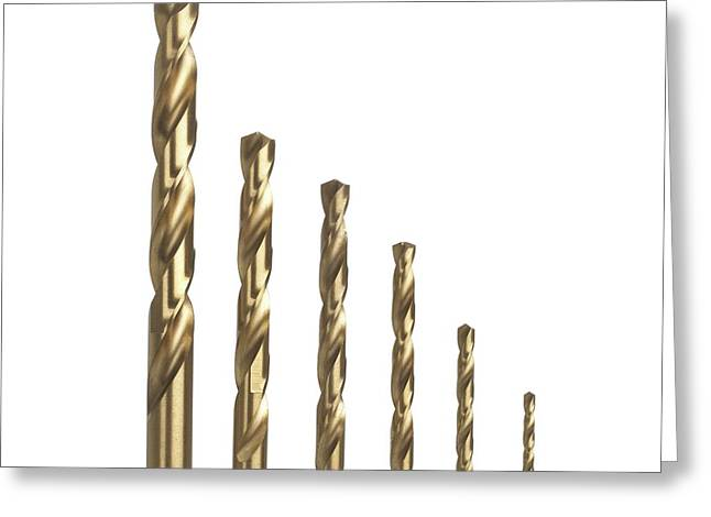 Drill Bits Greeting Card by Science Photo Library