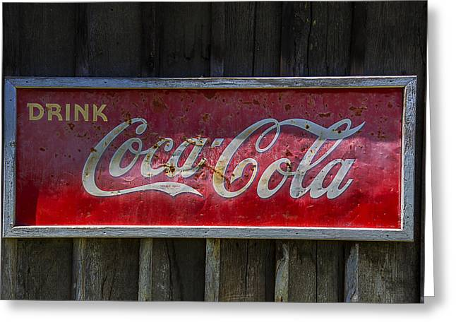 Drink Coca Cola Greeting Card by Garry Gay