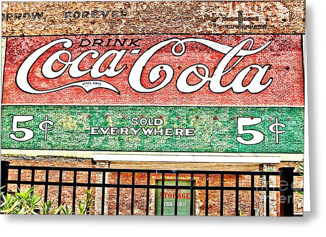 Coca-cola Mural Greeting Cards - Drink Coca Cola Greeting Card by Scott Pellegrin