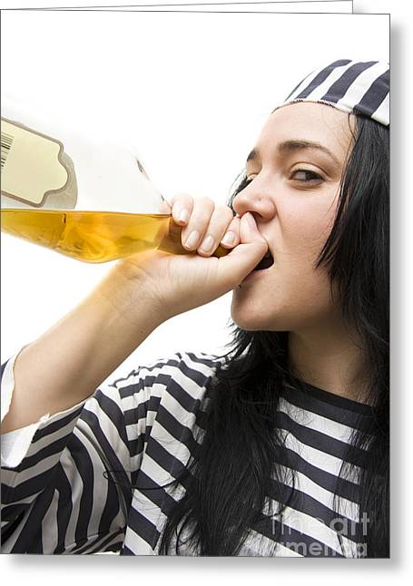 Drinking Detainee Greeting Card by Jorgo Photography - Wall Art Gallery