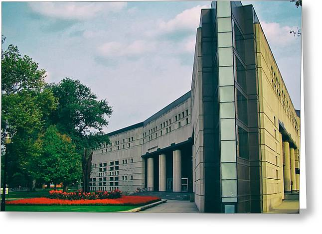 The Ohio State University Greeting Cards - Drinko Hall - The Ohio State University Greeting Card by Mountain Dreams
