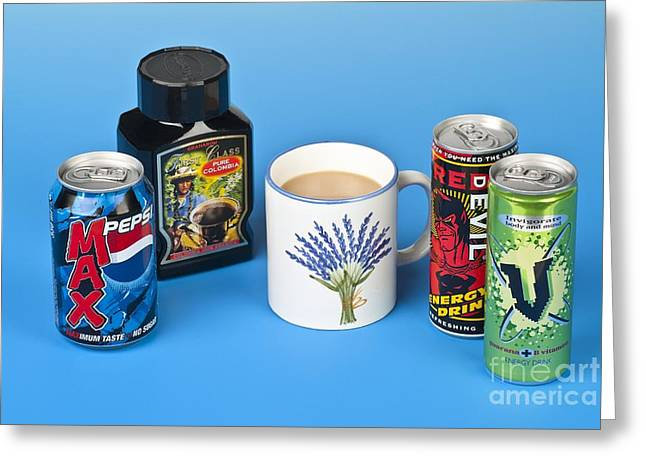 Pepsi Can Greeting Cards - Drinks Containing Caffeine Greeting Card by Martyn F. Chillmaid