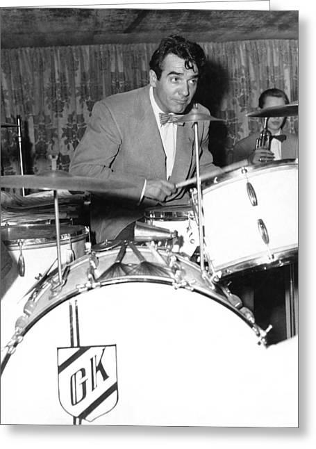 Drummer Gene Krupa Greeting Card by Underwood Archives