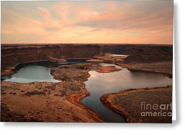 Dry Lake Greeting Cards - Dry Falls Greeting Card by Tara Turner