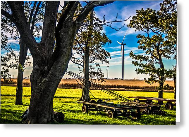 Generators Greeting Cards - Dual Harvest Greeting Card by Jim Finch