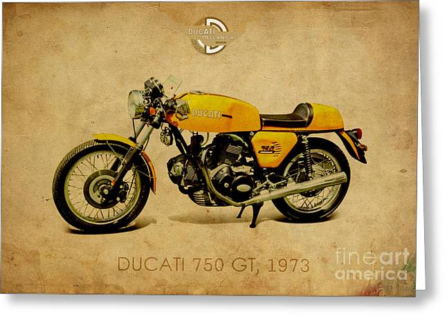 Ducati 750 Gt 1973 Greeting Card by Pablo Franchi