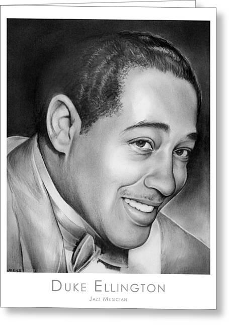 Ellington Greeting Cards - Duke Ellington Greeting Card by Greg Joens