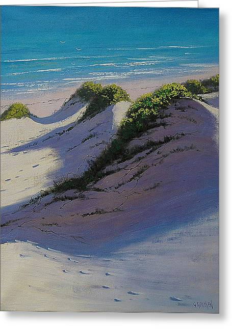 Sand Dunes Paintings Greeting Cards - Dune Shadows Greeting Card by Graham Gercken