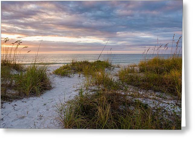 Beach Photos Digital Greeting Cards - Dunes At Dusk Greeting Card by Clay Townsend
