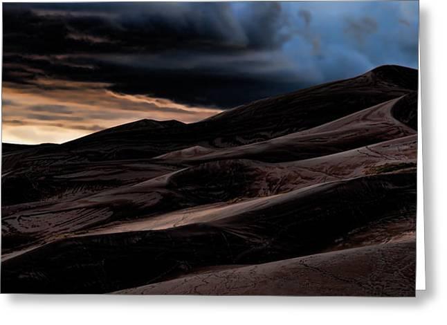 Colorado Pyrography Greeting Cards - Dunes Greeting Card by Igor Vidyashev