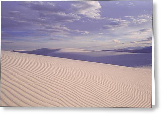 Sand Patterns Greeting Cards - Dunes, White Sands, New Mexico, Usa Greeting Card by Panoramic Images