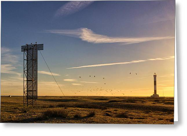 Nuclear Greeting Cards - Dungeness Beach.  Greeting Card by Ian Hufton