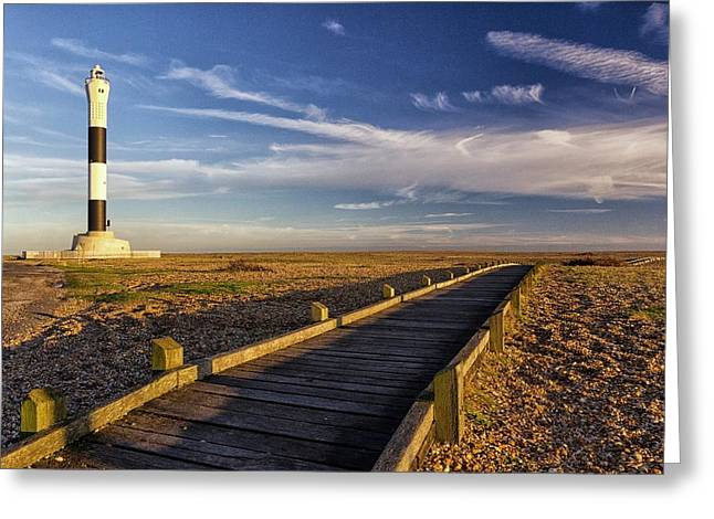 Dungeness Greeting Cards - Dungeness Lighthouse Greeting Card by Ian Hufton