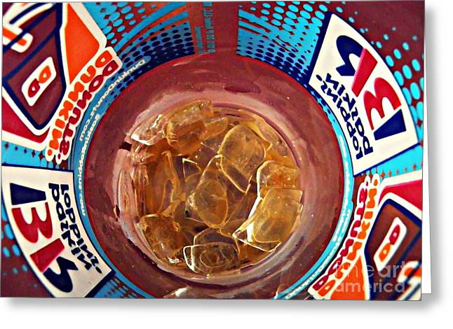 Sarah Loft Photographs Greeting Cards - Dunkin Ice Coffee 19 Greeting Card by Sarah Loft