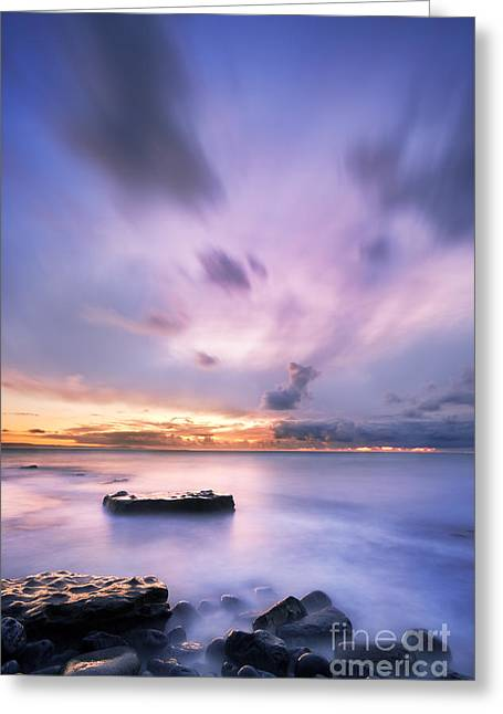 Sunset Seascape Greeting Cards - Dunraven Bay Greeting Card by Rod McLean