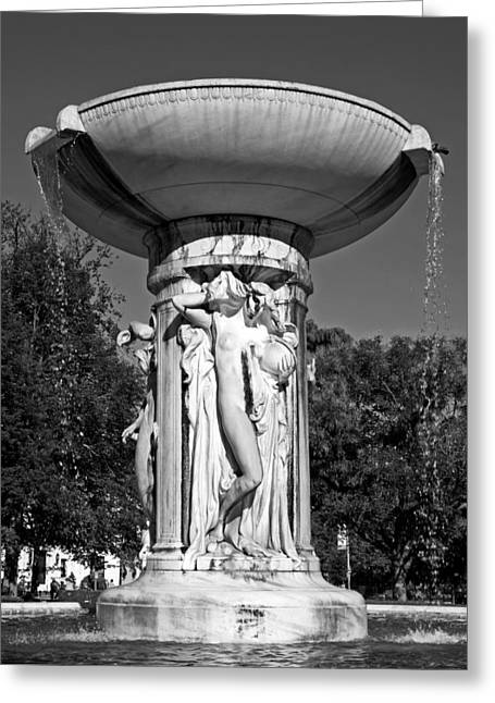 Pouring Greeting Cards - Dupont Circle Fountain - Washington DC Greeting Card by Mountain Dreams